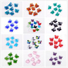 40pcs Charms Butterfly Earring Finding Pendant Loose Glass Crystal Beads 14mm