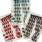 Isla Cream & Teal/Red/Black Poppy Eyelet Lined Eyelet Curtains - 4 sizes