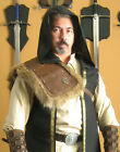 Medieval Barbarian Gladiator Assassin Single Leather Shoulder Armor with Fur