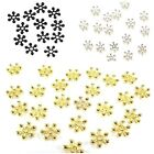60 x Premium Quality Snowflake Spacer Beads ♥ 3 Colours ♥ 8mm ♥ lady-muck1
