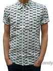 NEW Mens retro vtg 50s indie SHIRT preppy Horses 60s mad short sleeve men