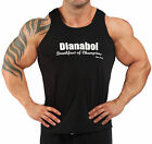 BLACK STERIOD DIANABOL  BODYBUILDING VEST WORKOUT  GYM CLOTHING