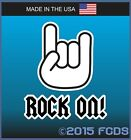 Rock On! Decal Sticker Music Fun Rocker Fist Pump
