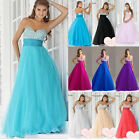 New Bridesmaid Wedding Gown Prom Ball Evening Dress Size 6 8 10 12 14 16 18