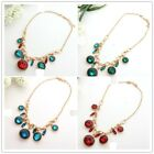 Hot Selling New Fashion Crystal Metal Bib Necklace Jewelry 4colour U pick  A1365