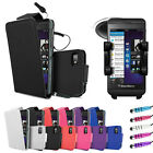 Leather Flip Series Case Cover - In Car Holder - Car Charger For Blackberry Z10