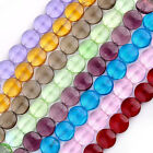 Women Crystal Glass Coin Button Loose Beads Strand Fashion Jewelry Fashion
