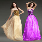 Long Strapless Formal Party Wedding Bridesmaid Ball Gowns evening dress Size 10