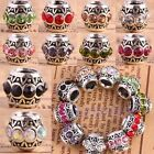 Wholesale Crystal Rhinestone Rondelle Drum European EP Beads Fit Charms Bracelet