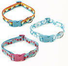 East Side Collection Fruit Frenzy Nylon Dog Collar Pet Collars Cherry Hibiscus