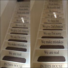 CUSTOM STAIRS QUOTE IN THIS HOUSE RULES YOUR DESIGN WALL STICKER TRANSFER DECAL