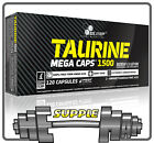 Olimp Taurine 1500mg Amino Acids Energy Strength Booster 30-120 Mega Caps
