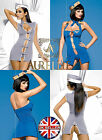 Stewardess Air Hostess Sexy Ladies Costume Fancy Dress S/M - L/XL By Obsessive