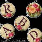 Letter Initial Flowers Roses Pink Necklace/Bracelet Charm/Pendant IMCC RFI1-ALL