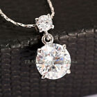 P292 Fashion Solitaire Necklace Pendant 18K GP use Swarovski Crystal