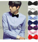 New Arrival  Pure Plain Bowtie Polyester Pre Tied Wedding Bow Tie For Men