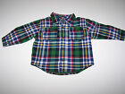 NWT GYMBOREE NORTH POLE EXPRESS BUTTON DOWN FLANNEL/ FLEECE SHIRT LINED