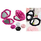 3D Cute Rose Shape Compact Cosmetic Makeup Mirror Double Sided Vintage T5