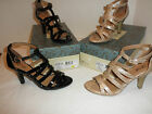 NIB $59 Euro Soft Ladies Shoe Patent Heeled Dress Sandal, Black Patent or Snake