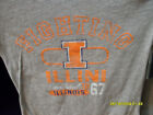 NWT PRO EDGE Ladies Jr. Cut FIGHTING ILLINI Logo Tee Ash Gray Orange Ink