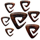 1 x Sono Wood Triangle Ear Spiral Organic Rare Handmade Plug New Style Jewellery