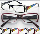 D(R360)2Pairs Plastic Colour Patterned Arms Reading Glasses/5Colours/SpringHinge