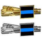 Thin Blue Line - Police Policemen Square Tie Bar Clip Clasp Tack