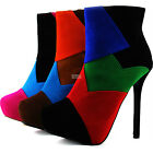 Ankle High Heel Boots Round Toe Designer Inspiring Cowboy Rider Club Dress Shoes