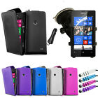 4 IN 1 PACK FOR NOKIA LUMIA 520 - CASE COVER CAR CHARGER HOLDER STYLUS