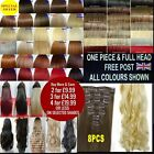 15 18 22 inch Full Head Hair Extensions & One Piece Clip in Hair clip in hair