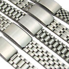 Stainless Steel Folding deployment watch bracelet 18mm 20mm Choice of 5 styles