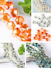 20/100pcs Rhomb Spacer Loose Beads Faceted Glass Crystal Finding 4Colors 11*12mm