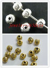 250 Tibetan Silver,Gold Color Little Round Beads 4.5x4mm F106-1209 F107