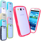 SILICONE BUMPER FROSTED BACK PHONE CASE COVER FOR SAMSUNG GALAXY S3 III I9300