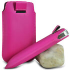 HOT PINK PULL TAB LEATHER POUCH SKIN COVER SLEEVE PU HOLSTER FOR VARIOUS PHONE