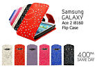 SAMSUNG GALAXY ACE 2 I8160 PREMIUM SPARKLING MOBILE PHONE FLIP TOP CASE COVER