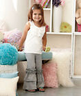 Girls Fashion Ruffle Pants Black, Gray or Pink Cute with any Top 4/5 - 10/12