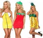 CHRISTMAS FANCY FRUIT MINI PARTY DRESS COSTUME BANANA STRAWBERRY PINEAPPLE 8-12