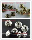 100 Tibetan Silver,Gold,Bronze Tone Bicone Spacer Beads 7x4mm