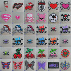 Girls Iron On / Sew On Cloth Patch Badge Appliqué motif goth emo punk rock chick £1.89 GBP on eBay
