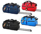 """24"""" Jeep large wheeled holdall - red, navy and blue - quality travel case bag"""