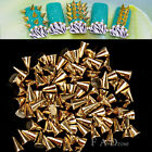 100X Punk 3D Nail Art Alloy Rivet Studs Pyramid Spikes Glitters DIY Decoration