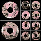 """50mm Rhodonite donut pendant bead 2"""" *lot of choices*"""