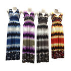 4-Pack Summer Maxi Dresses Tie Dye Style Prints Long Sundress Set Wrinkle Free