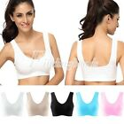 Sexy Women's Racerback Sports Tank Tops Padded Yoga Exercise Bra S/M/L/XL/XXL