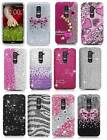 For LG G2 Full Diamond Bling Girly Hard Snap On Protector Cover Case Accessory