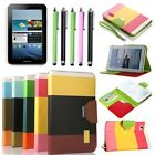 "Hybrid Leather Flip Wallet Case Cover Stand For Samsung Galaxy Tablet 2 7"" P3100"