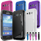 ACCESSORY BUNDLE - SAMSUNG GALAXY ACE 3 S7272 CASE COVER CAR CHARGER CAR HOLDER