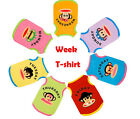 A week  Pet Dog Cute 100% Cotton Colorful Shirts + 1 Bowtie Same Clothes color