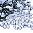 1000 Clear Crystal Acrylic Rhinestones Silver Flatback Nail Art Crafts Beads NEW